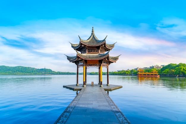 Die schöne landschaft von westsee in hangzhou Premium Fotos