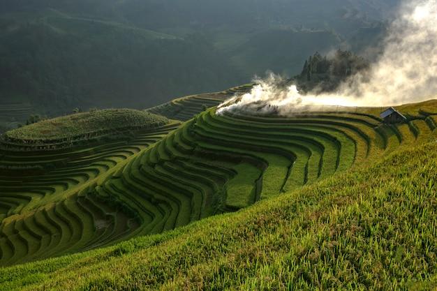 Die schritte des schönsten und symbolträchtigsten vietnams. Premium Fotos