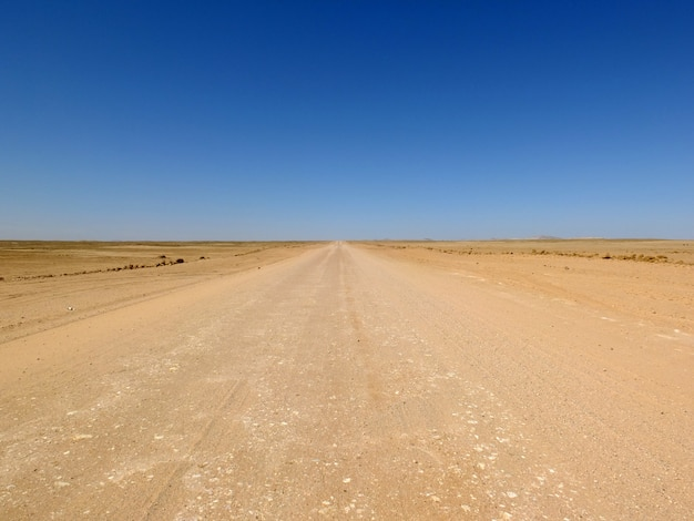 Die straße in der wüste, windhoek, namibia Premium Fotos