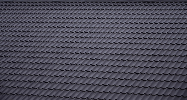 Die textur des daches aus lackiertem metall Premium Fotos