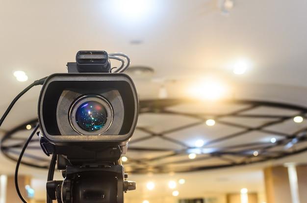 Die videokamera hat den fokus Premium Fotos