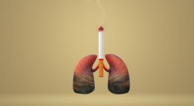 Die welt der wiedergabe 3d kein tabaktagesbildhintergrund. Premium Fotos