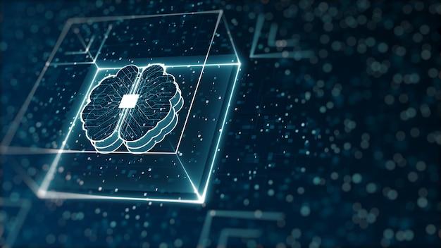 Digitale binärdaten und big-data-konzept der abstrakten technologie für künstliche intelligenz (ki). Premium Fotos