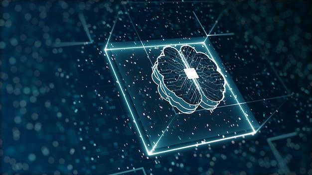 Digitale binärdaten und big-data-konzept der künstlichen intelligenz der abstrakten technologie Premium Fotos
