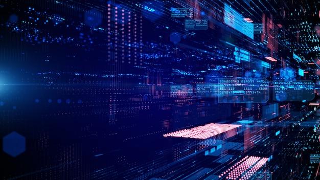Digitale cyberspace- und datennetzwerkverbindungen Premium Fotos