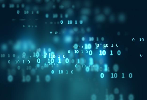 Digitaler codenummer-zusammenfassungs-technologiehintergrund Premium Fotos