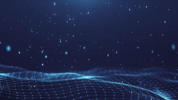 Digitaler hintergrund der abstrakten netzwerktechnologie des plexus. Premium Fotos