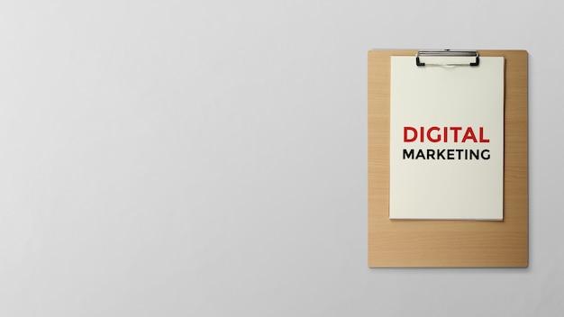 Digitales marketing in zwischenablage geschrieben Premium Fotos