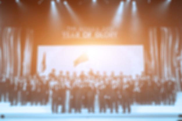 Disfocus der award-zeremonie thema kreativ. hintergrund für business-konzept Premium Fotos