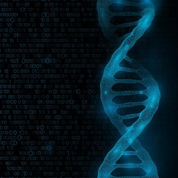 Dna-molekülstrukturhintergrund. Premium Fotos