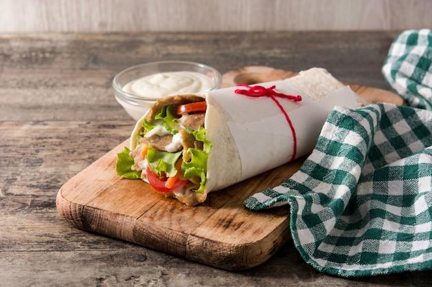Döner oder döner-sandwich Premium Fotos