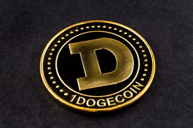 Dogecoin doge kryptowährung zahlungsmittel im finanzsektor Premium Fotos