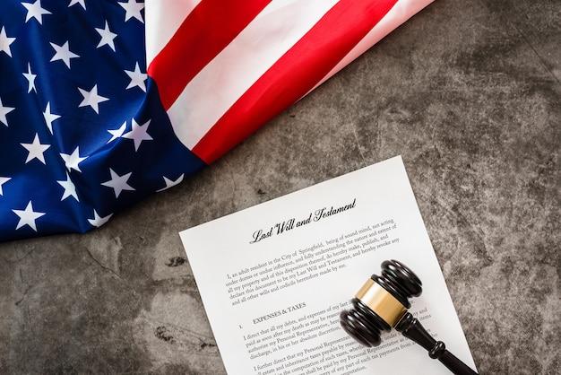 Dokument des letzten willens und des testaments. Premium Fotos