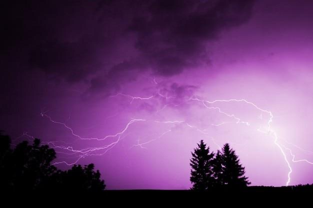 Dramatische Wolkenformationen Strom Elektrische Dunkle