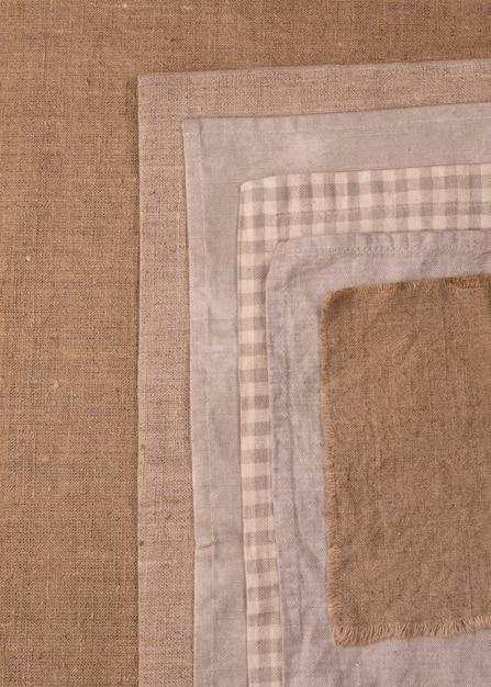 Draufsicht auf monochromatische tücher Kostenlose Fotos