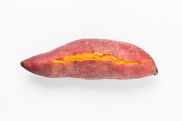 Draufsicht auf schmackhafte süßkartoffel Kostenlose Fotos
