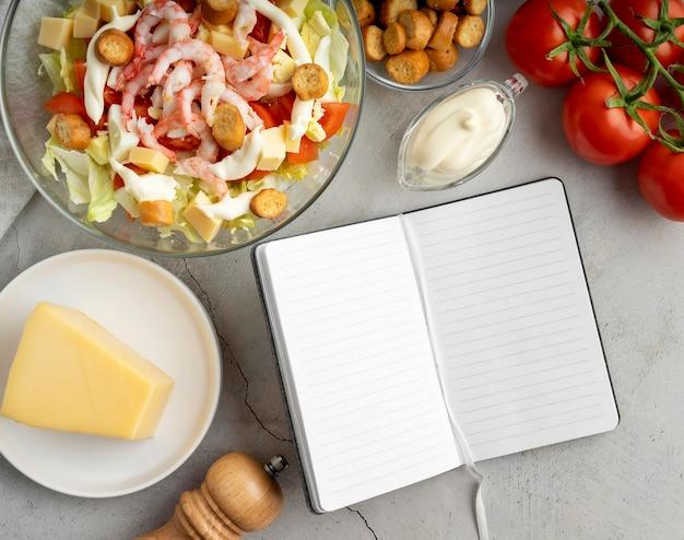 Draufsicht auswahl an leckerem essen Kostenlose Fotos