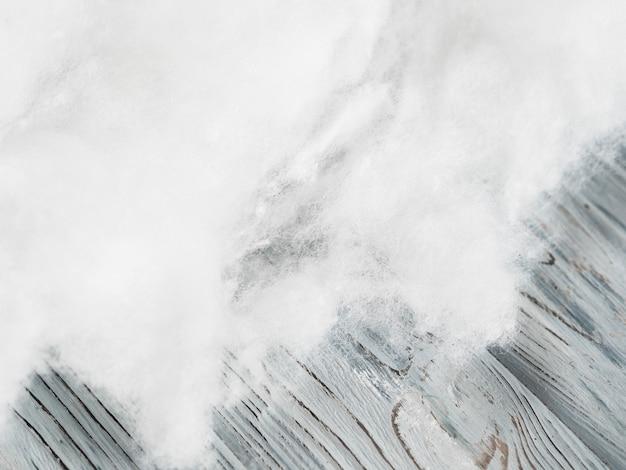 Draufsicht baumwollrahmen mit kopierraum Premium Fotos