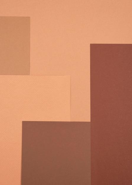 Draufsicht des monochromatischen musters Kostenlose Fotos