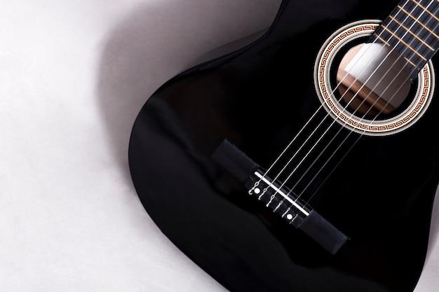 Draufsicht einer gitarre Kostenlose Fotos
