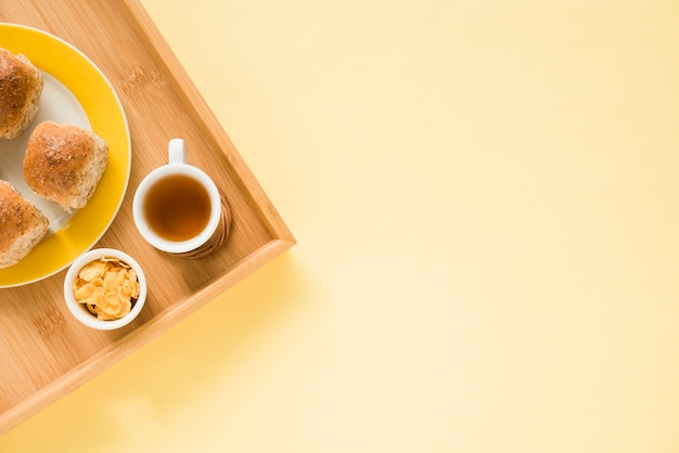 Draufsicht frühstückstablett Kostenlose Fotos