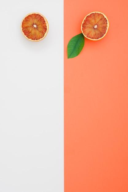 Draufsicht geschnittene orangen Kostenlose Fotos