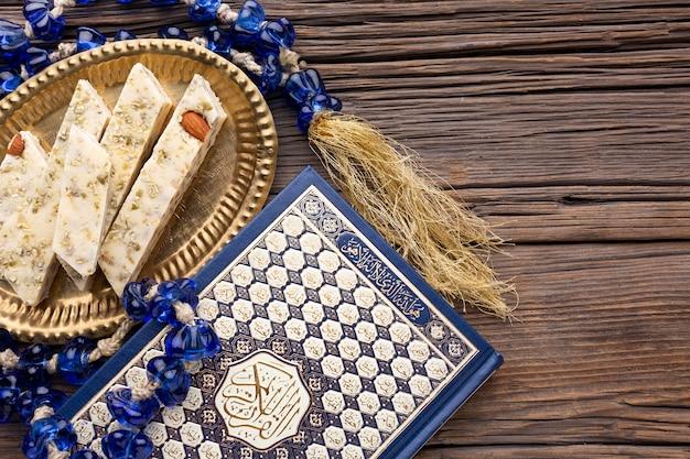 Draufsicht islamisches neujahrskonzept Kostenlose Fotos