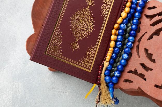 Draufsicht islamisches neujahrskonzept Premium Fotos