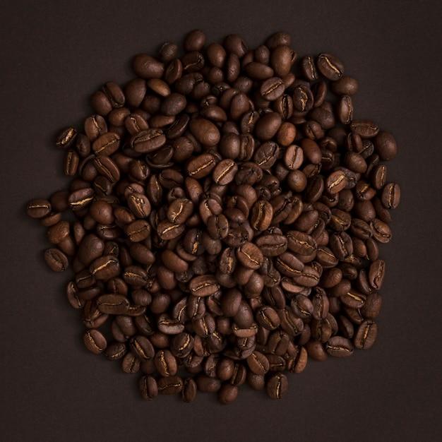 Draufsicht kaffeebohnen Kostenlose Fotos