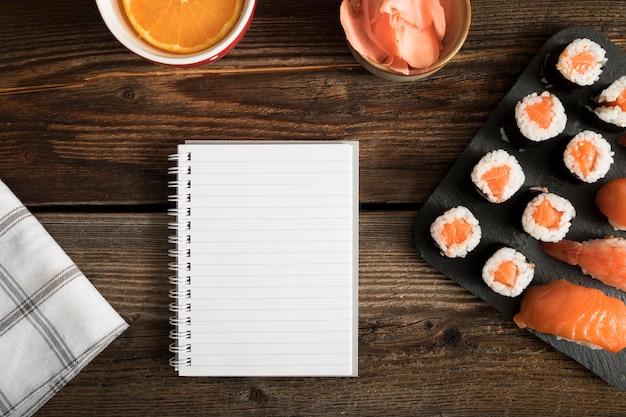 Draufsicht kopieren einfügen mit sushi Kostenlose Fotos