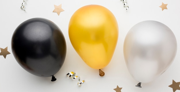 Draufsicht luftballons für party Kostenlose Fotos