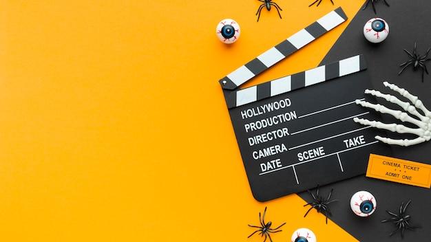 Draufsicht schindel für halloween-konzept Kostenlose Fotos