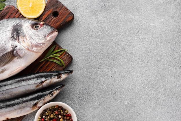 Draufsichtfische und -würzmittel Kostenlose Fotos