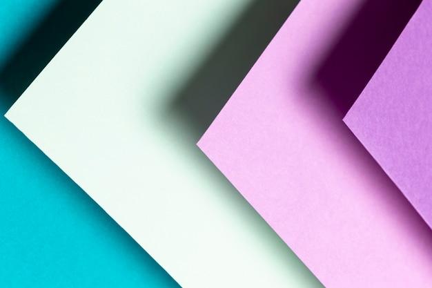 Draufsichtmuster mit verschiedenen schatten der farbnahaufnahme Kostenlose Fotos