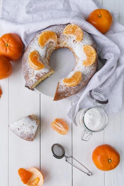 Dreikönigstagsdesserts mit orange und zucker Kostenlose Fotos