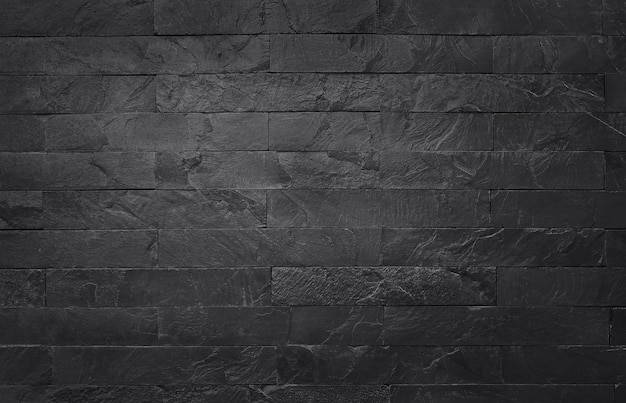 Dunkelgraue schwarze schieferbeschaffenheit mit hoher auflösung, hintergrund der natürlichen schwarzen steinwand. Premium Fotos