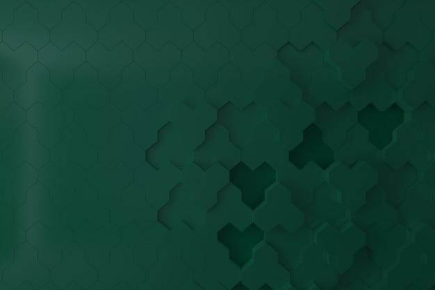 Dunkelgrüne wand 3d für hintergrund, hintergrund oder tapete Premium Fotos