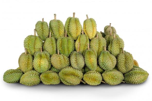 Durianfrucht vereinbaren zusammen getrennt. Premium Fotos