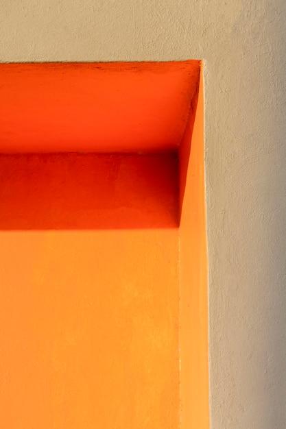 Ecke einer niedrigen ansicht der orange wand Kostenlose Fotos