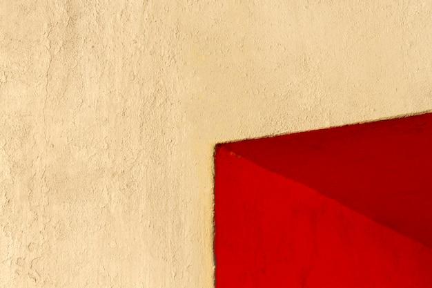 Ecke eines roten wandkopierraums Kostenlose Fotos