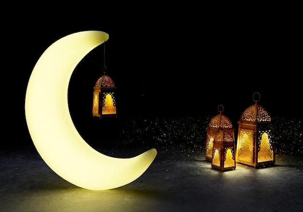 Eid mubarak ist islamisch. Premium Fotos