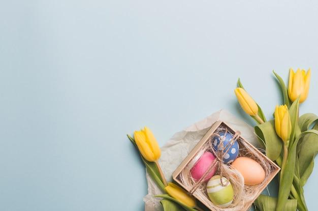 Eier unter tulpen Kostenlose Fotos