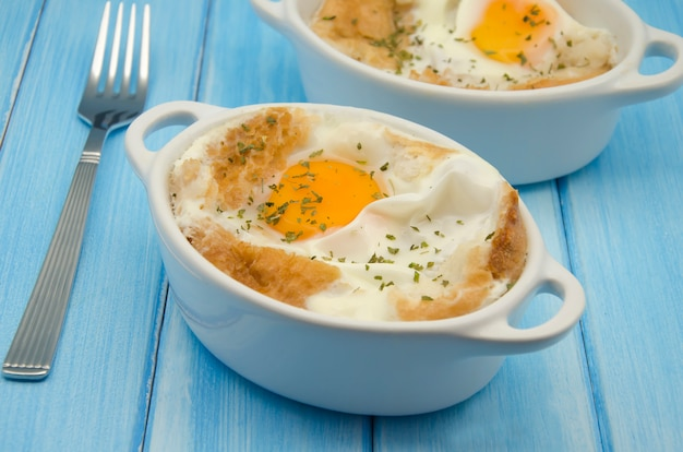 Eiersuppe Premium Fotos