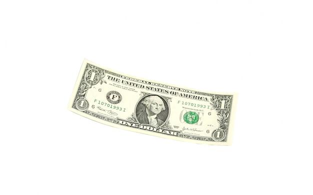 Ein dollarschein ohne gesicht und rotes fragezeichen Premium Fotos