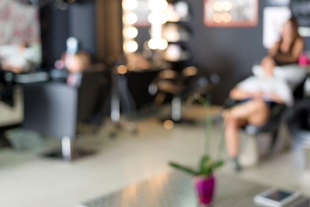 Ein friseursalon-hintergrund (jobkonzept) Premium Fotos