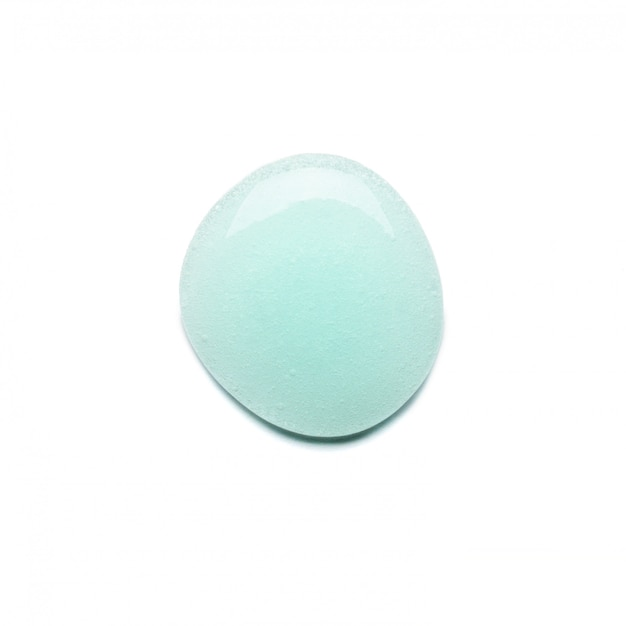Ein tropfen blaues gel zum waschen ihres gesichts mit blasen. Premium Fotos