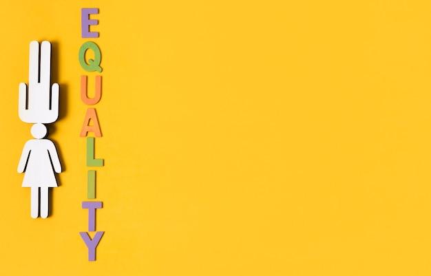 Ein verstand zwei geschlechtergleichheitskonzept-kopienraum Kostenlose Fotos