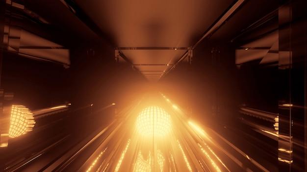 Eine coole runde futuristische sci-fi-techno-beleuchtung - perfekt für futuristische hintergründe Kostenlose Fotos