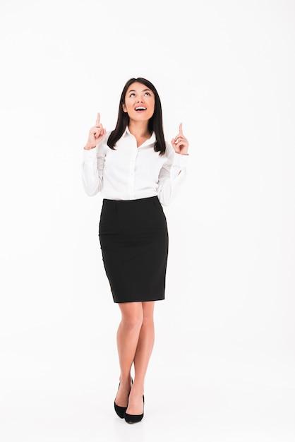 Eine freudige asiatische geschäftsfrau Kostenlose Fotos