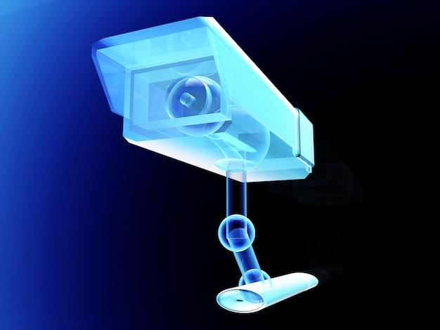 Eine technische cctv-überwachungskamera. Premium Fotos